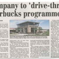 Company to drive-thru Starbucks programme