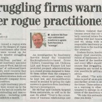 Struggling firms warned off rogue insolvency practitioners